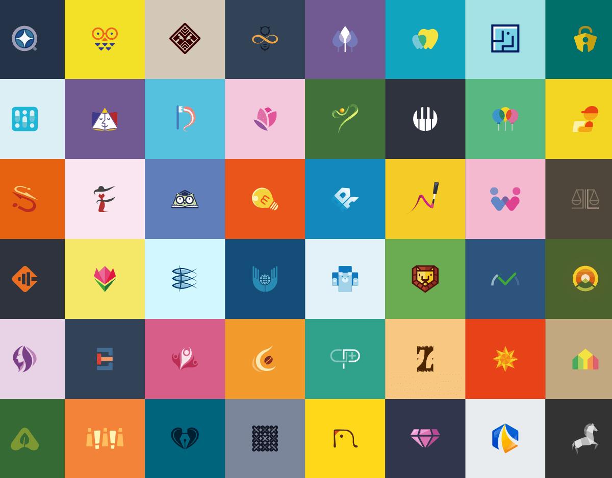 カラフルなロゴ色々